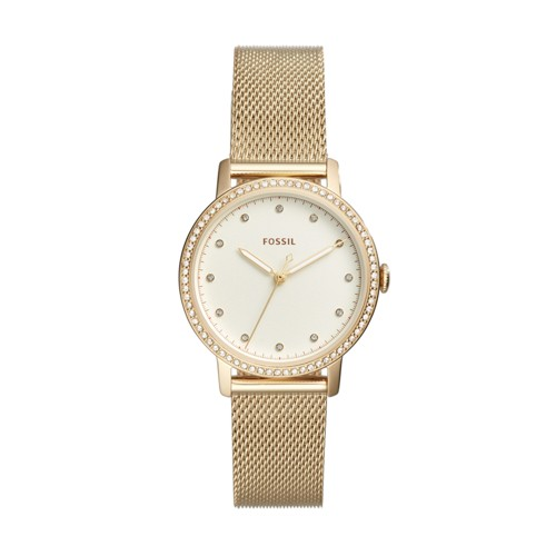 Fossil Neely Three-Hand Gold-Tone Stainless Steel Watch Es4366