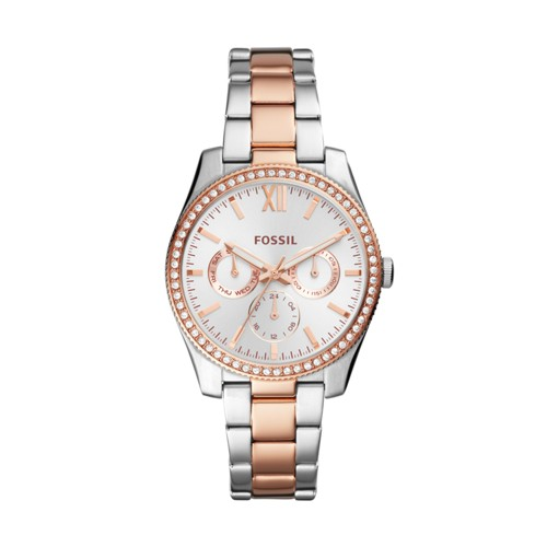 Fossil Scarlette Multifunction Two-Tone Stainless Steel Watch ES4373