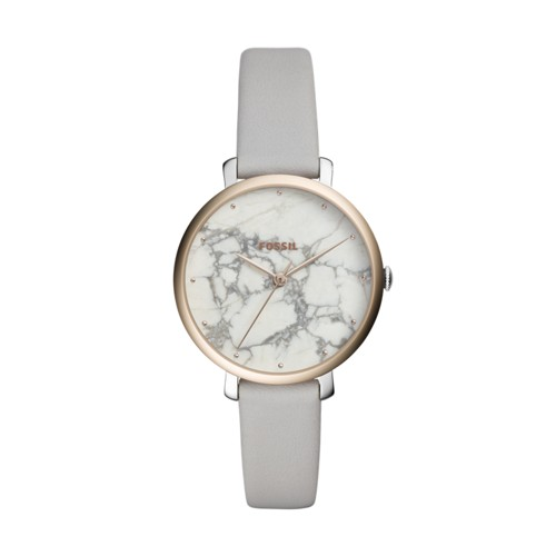 Fossil Jacqueline Three-Hand Mineral Gray Leather Watch ES4377