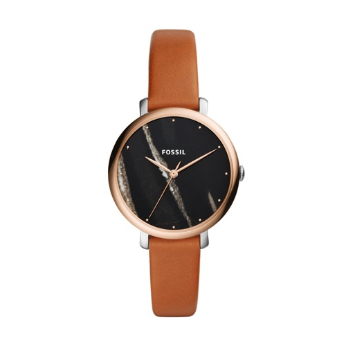 Fossil Jacqueline Three-Hand Luggage Leather Watch ES4378
