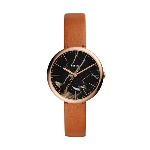 Fossil Annette Three-Hand Luggage Leather Watch ES4380
