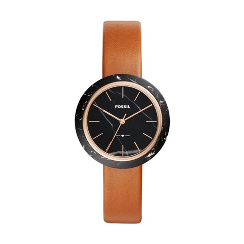 Fossil Camille Three-Hand Luggage Leather Watch ES4382