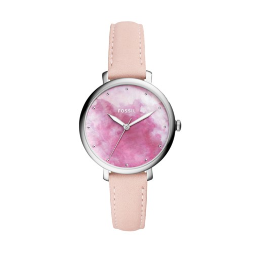 Fossil Jacqueline Three-Hand Blush Leather Watch ES4385