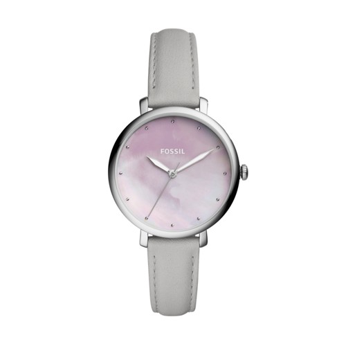 Fossil Jacqueline Three-Hand Mineral Gray Leather Watch ES4386