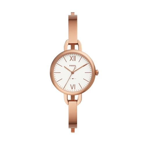 Fossil Annette Three-Hand Rose Gold-Tone Stainless Steel Watch ES4391