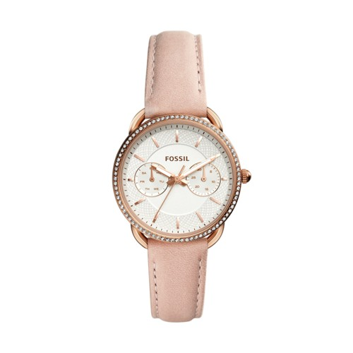 Tailor Multifunction Blush Leather Watch ES4393