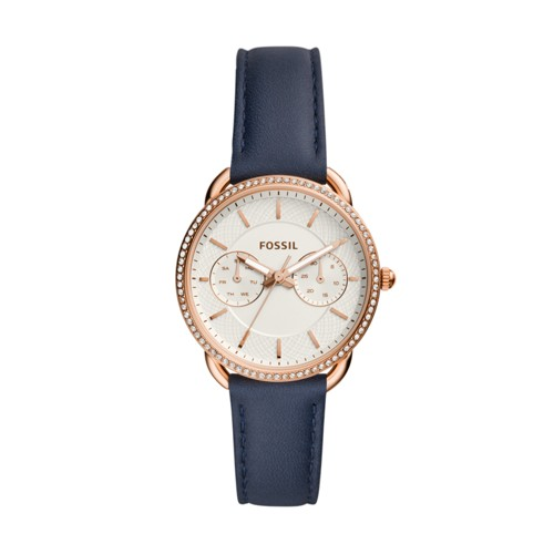 Fossil Tailor Multifunction Navy Leather Watch ES4394