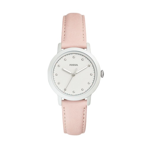 Fossil Neely Three-Hand Blush Leather Watch ES4399