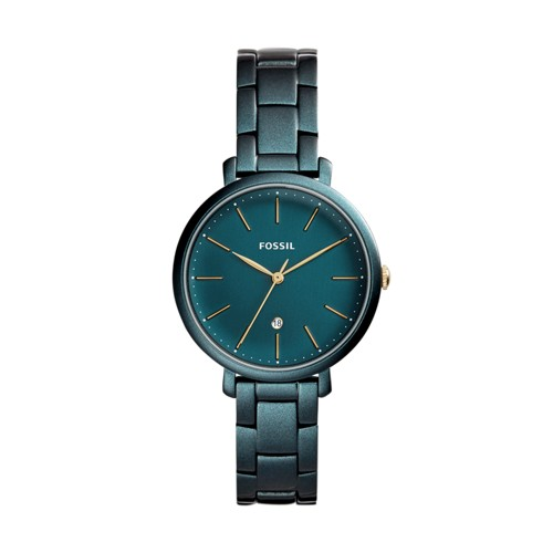 Fossil Jacqueline Three-Hand Date Teal Green Stainless Steel Watch ES4409