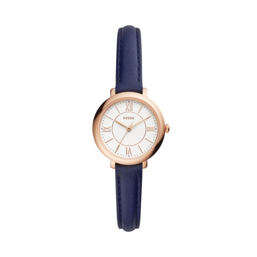 Fossil Jacqueline Three-Hand Navy Leather Watch ES4410