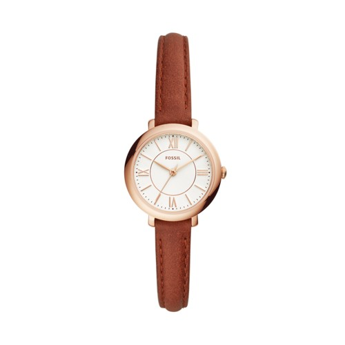 Fossil Jacqueline Three-Hand Terracotta Leather Watch ES4412