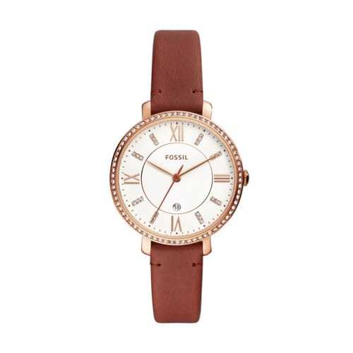 Fossil Jacqueline Three-Hand Date Terracotta Leather Watch ES4413