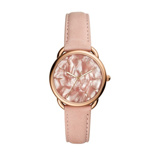 Fossil Tailor Three-Hand Blush Leather Watch ES4419