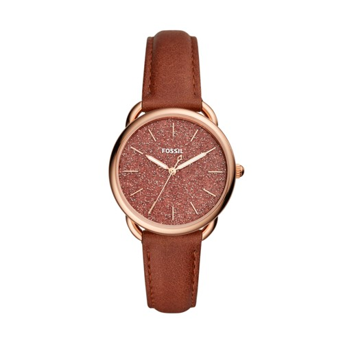 Fossil Tailor Three-Hand Terracotta Leather Watch ES4420