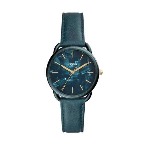 Fossil Tailor Three-Hand Teal Green Leather Watch ES4423