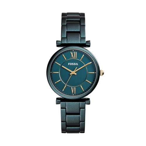 Fossil Carlie Three-Hand Teal Green Stainless Steel Watch ES4427