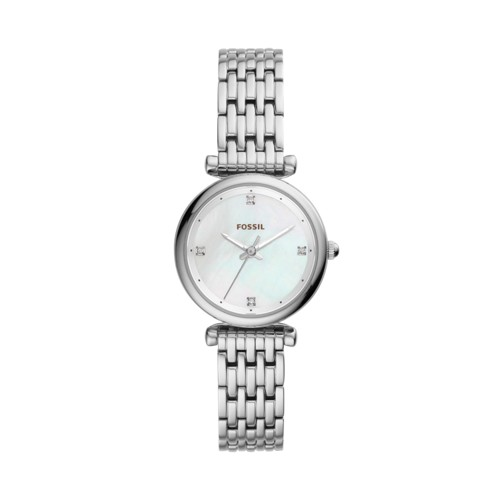 Fossil Carlie Mini Three-Hand Stainless Steel Watch ES4430