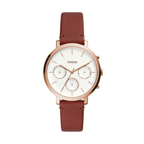 Fossil Sylvia Multifunction Terracotta Leather Watch ES4434