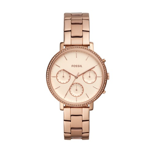 Fossil Sylvia Multifunction Rose Gold-Tone Stainless Steel Watch ES4436