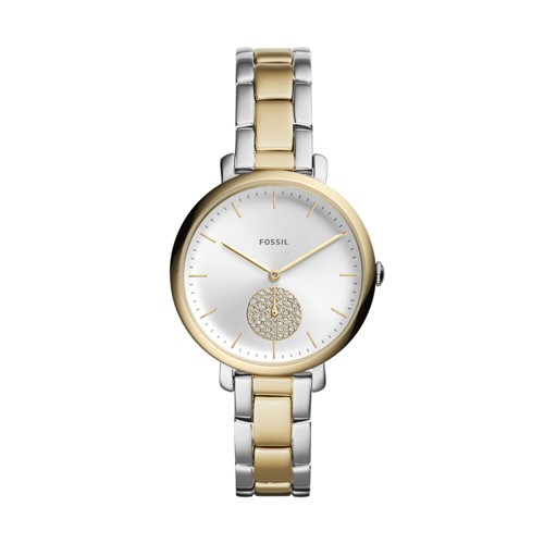 Fossil Jacqueline Three-Hand Two-Tone Stainless Steel Watch ES4439
