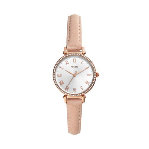 fossil Kinsey Three-Hand Blush Leather Watch ES4445
