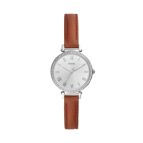 fossil Kinsey Three-Hand Brown Leather Watch ES4446