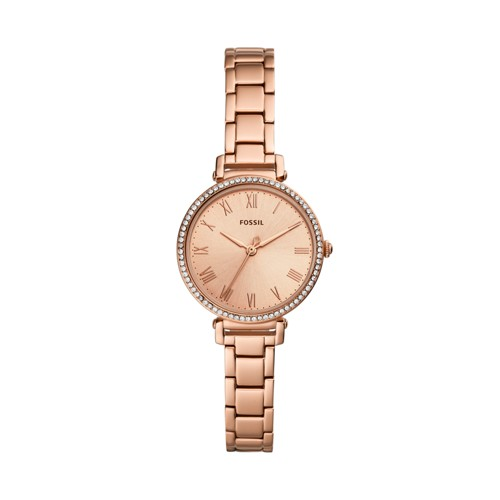 fossil Kinsey Three-Hand Rose Gold-Tone Stainless Steel Watch ES4447