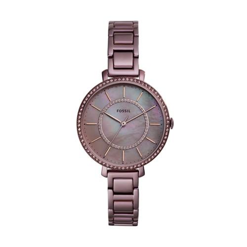 fossil Jocelyn Three-Hand Lavender Stainless Steel Watch ES4453