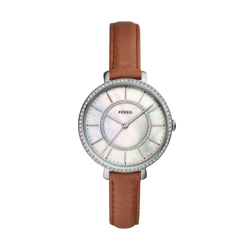 fossil Jocelyn Three-Hand Brown Leather Watch ES4454