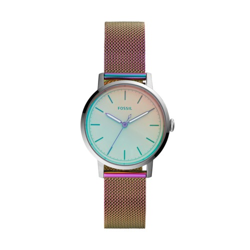 Neely Three-Hand Iridescent Stainless Steel Watch ES4466