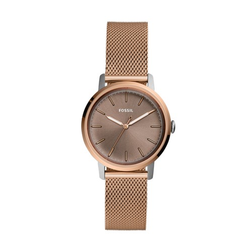 Neely Three-Hand Rose Gold-Tone Stainless Steel Watch ES4468