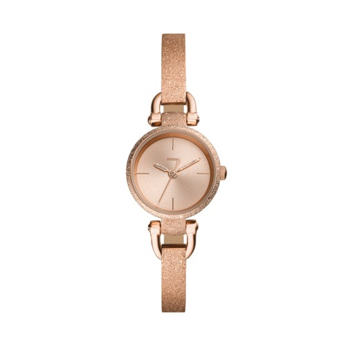 fossil Georgia Mini Three-Hand Rose Gold-Tone Stainless Steel Watch ES4479