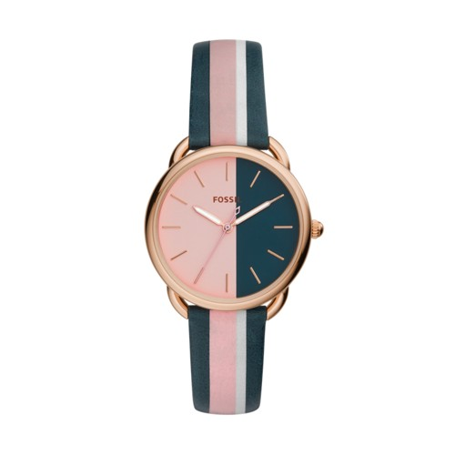 Fossil Tailor Three-Hand Multi-Colored Leather Watch ES4492