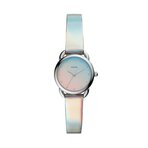 fossil Tailor Mini Three-Hand Iridescent Polyurethane Watch ES4499