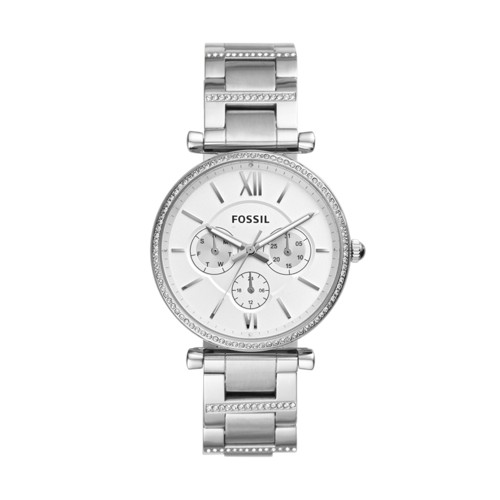 fossil Carlie Multifunction Stainless Steel Watch ES4541
