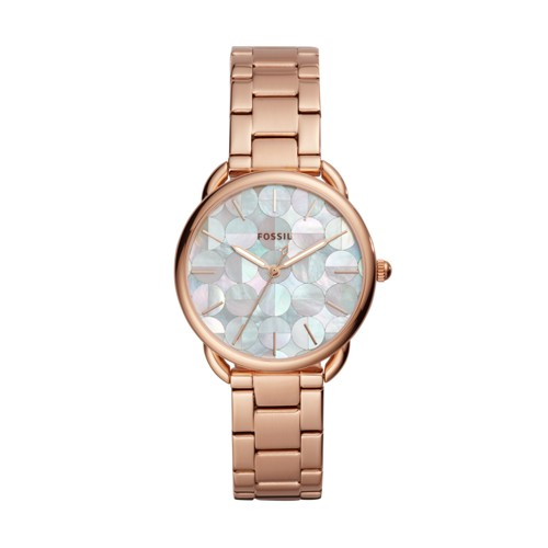 fossil Tailor Three-Hand Rose Gold-Tone Stainless Steel Watch ES4545