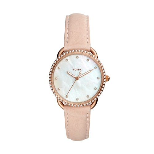 fossil Tailor Three-Hand Blush Leather Watch ES4546