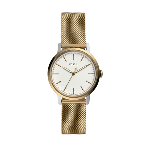 Neely Three-Hand Antique Gold-Tone Stainless Steel Watch ES4548