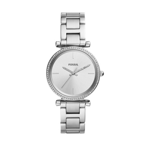 Carlie Three-Hand Stainless Steel Watch ES4559
