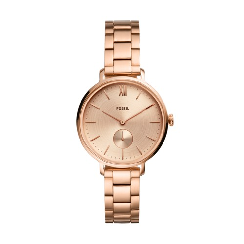 fossil Kalya Three-Hand Rose Gold-Tone Stainless Steel Watch ES4571