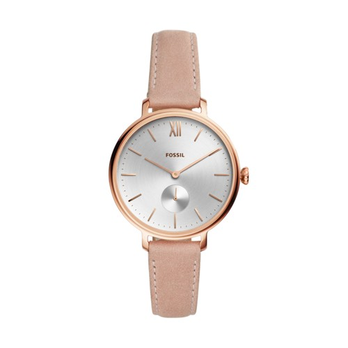 fossil Kalya Three-Hand Nude Leather Watch ES4572