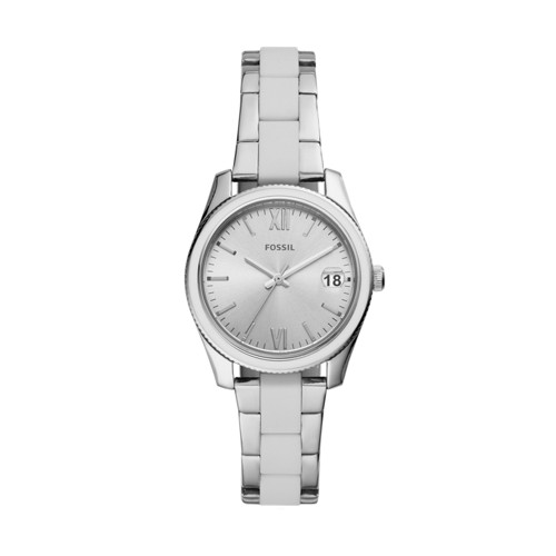 fossil Scarlette Mini Three-Hand Date Stainless Steel Watch ES4590