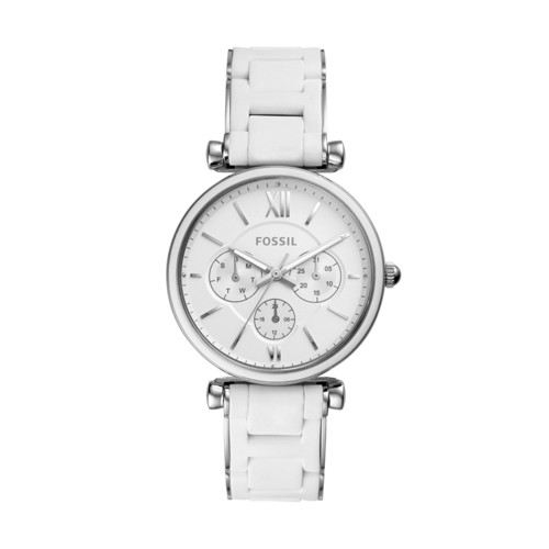 fossil Carlie Multifunction Stainless Steel Watch ES4605