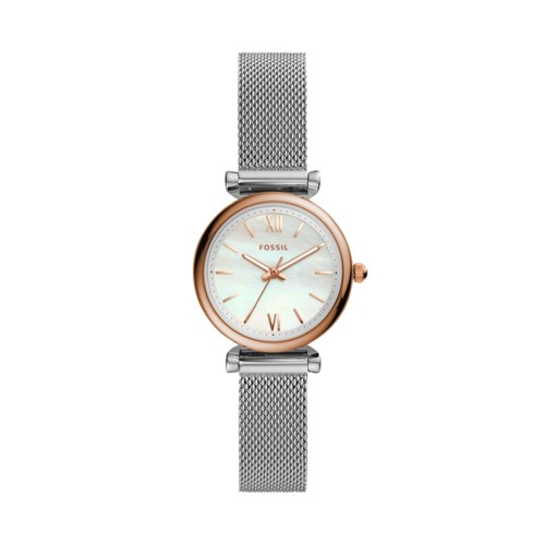 fossil Carlie Mini Three-Hand Stainless Steel Watch ES4614