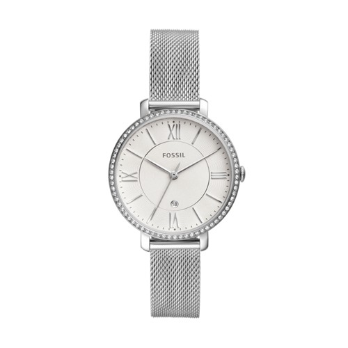 fossil Jacqueline Three-Hand Date Stainless Steel Watch ES4627