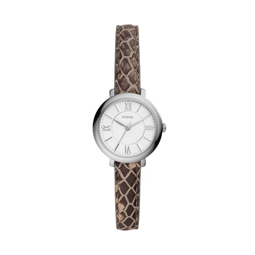 Fossil Jacqueline Mini Three-Hand Gray Leather Watch  jewelry