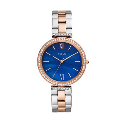 fossil Madeline Three-Hand Two-Tone Stainless Steel Watch ES4640