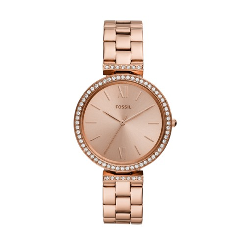 fossil Madeline Three-Hand Rose Gold-Tone Stainless Steel Watch ES4641