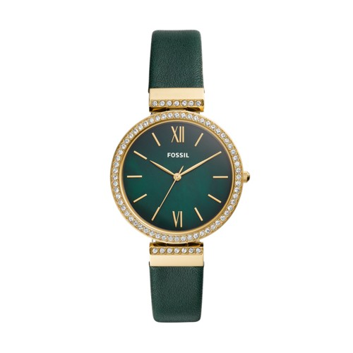 Madeline Three-Hand Dark Green Leather Watch ES4642