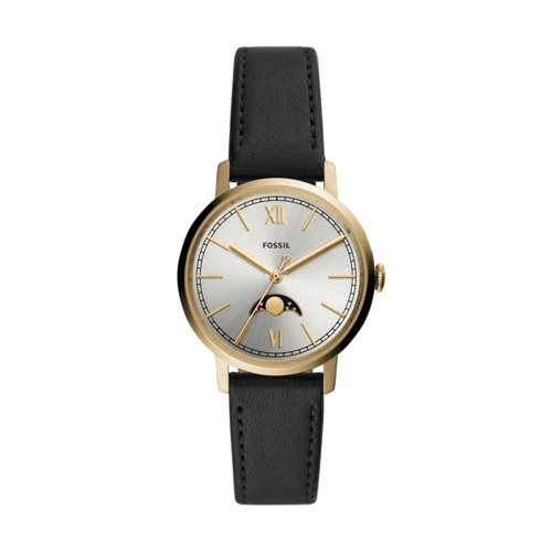Neely Three-Hand Black Leather Watch ES4643